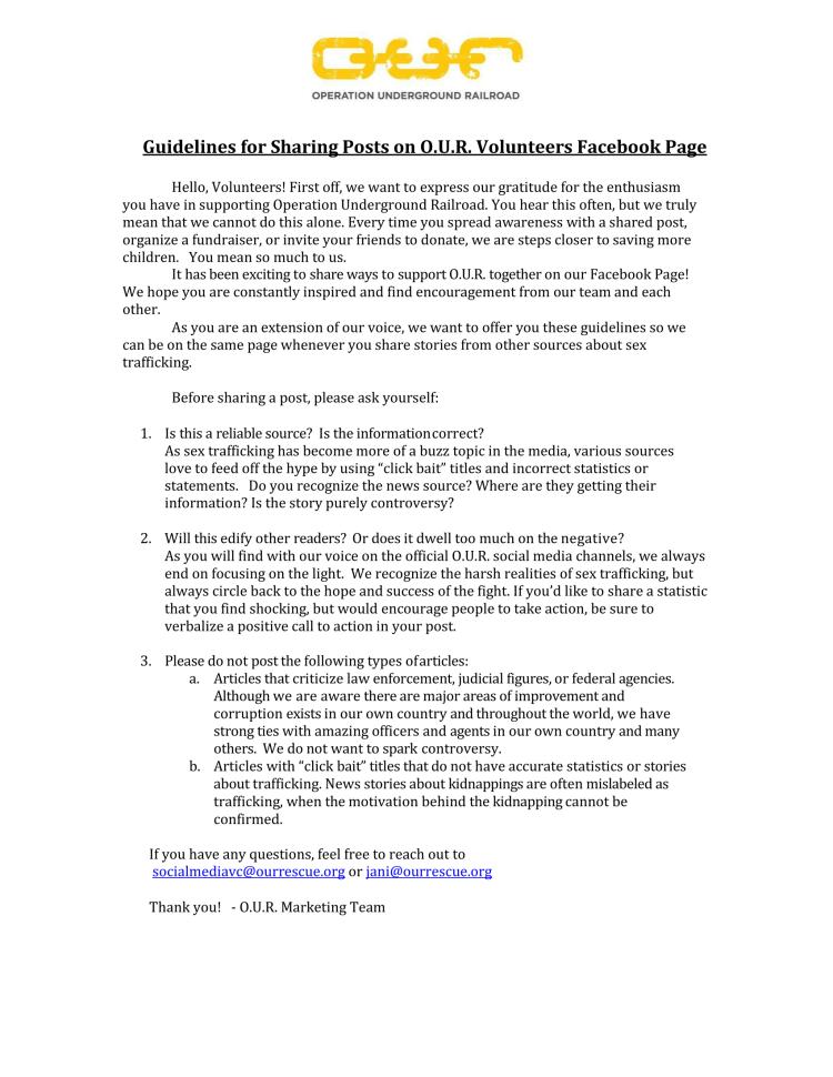 Volunteer Posting Guidelines -1